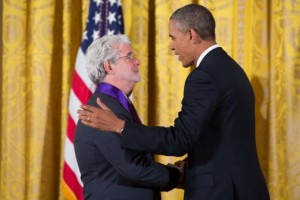 George Lucas receives National Medal of Arts