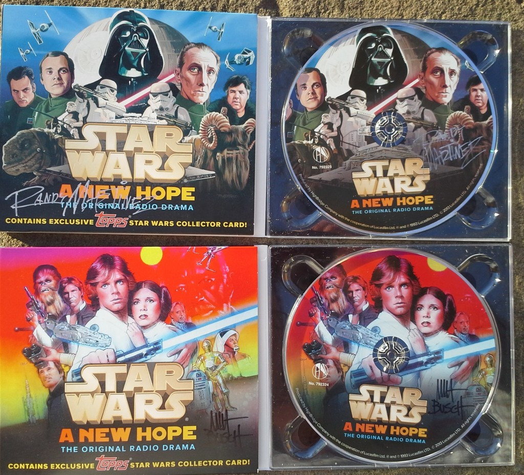 Star Wars: A New Hope - The Original Radio Drama Topps Collector's Editions signed by the artists